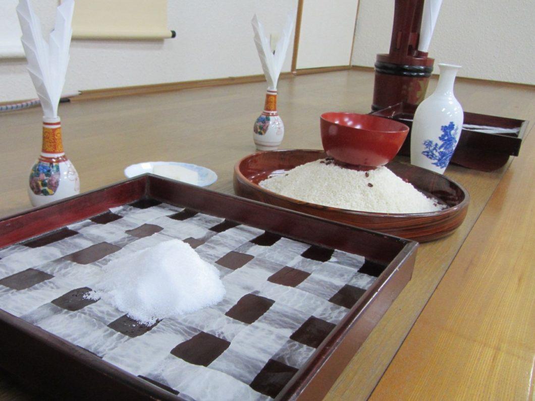 弓祭り加寿神会場の床の間