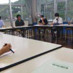 2020年度第一回菅島小学校コミュニティ・スクール会議の様子