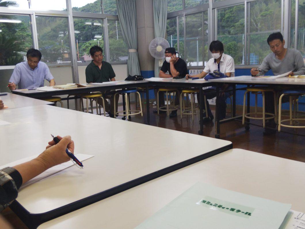 2020年度第一回菅島小学校コミュニティ・スクールの様子