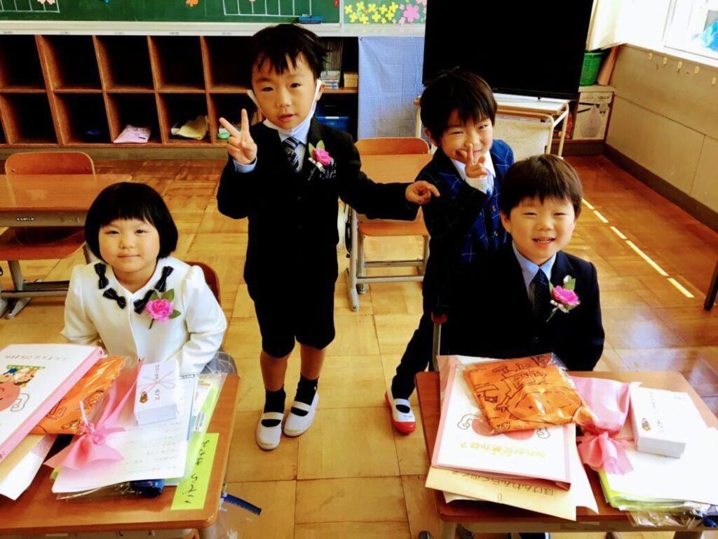 2021年度菅島小学校入学児童の4人